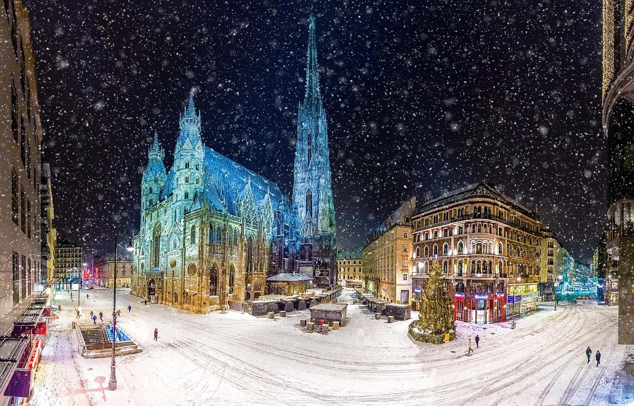 Австрия, Вена, Новый Год, Зима